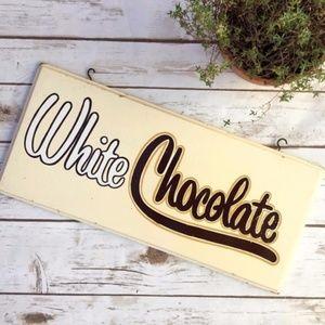 Vintage Wooden White Chocolate Ice Cream Sign